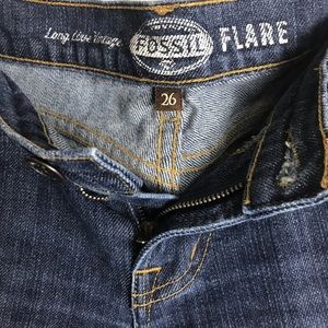 Fossil Jeans - FOSSIL FLARE JEANS-  Dark Wash Flare Leg Jeans